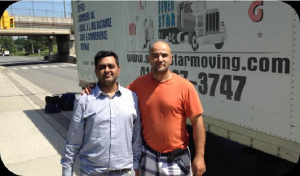 Toronto Movers moving Customer to new home